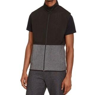 Kenneth Cole Reaction Black Mens Size 2XL Mesh-Layer Sweater Vest