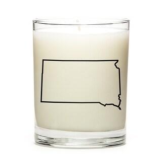 Custom Candles with the Map Outline South-Dakota, Eucalyptus