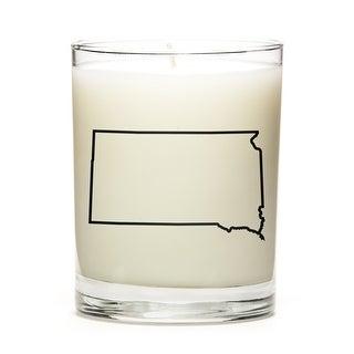 State Outline Candle, Premium Soy Wax, South-Dakota, Eucalyptus