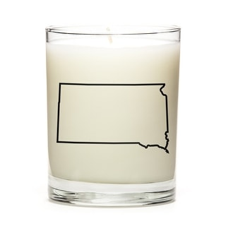 State Outline Candle, Premium Soy Wax, South-Dakota, Fresh Linen