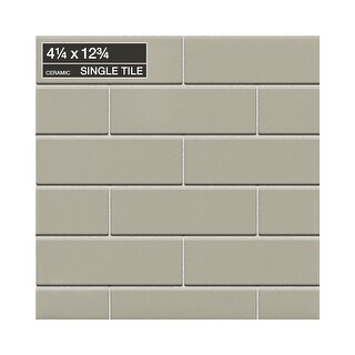"Daltile 01412MODP Modern Dimensions - 12-3/4"" x 4-1/4"" Rectangle Wall Tile - Pol - N/A"