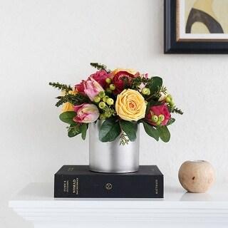 "FloralGoods Rose Forest Flower Arrangement Summer Passion 11"" Tall"