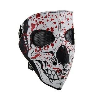 White Full Face Blood Splattered Skull Facemask