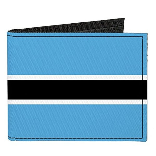 Buckle-Down Canvas Bi-fold Wallet - Botswana Flag Accessory