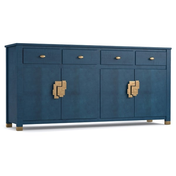 """Hooker Furniture 1586-75900-1 Curiosity 72"""" Wide 4 Drawer Poplar and Sycamore Wood Accent Cabinet from the Cynthia Rowley"""