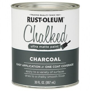 Rust-Oleum® 285144 Chalked Ultra Matte Paint, 30 Oz, Charcoal