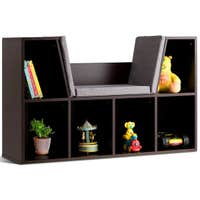 Deals on Costway 6 Cubby Kid Storage Cabinet Cushioned Bookcase Shelf