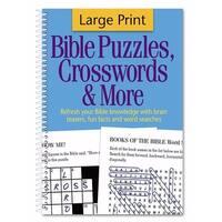 Bible Puzzles Crosswords & More - Large Print