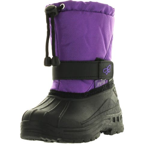 Static Kids Bhd-05 Super Cute Butterfly Waterproof Cold Weather Kids Snow Boots