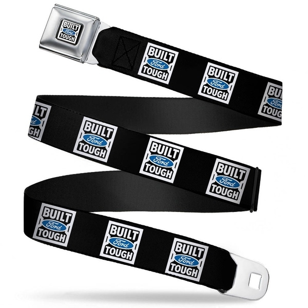 Built Ford Tough Logo2 Full Color Black White Blue Built Ford Tough Logo2 Seatbelt Belt