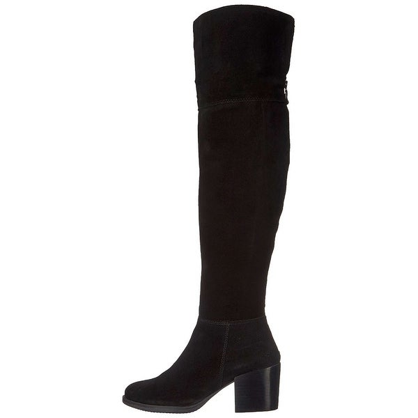 Steve Madden Womens Orabela Leather Closed Toe Over Knee Fashion Boots