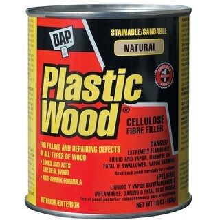 Dap 21506 Plastic Wood Filler, 16 Oz, Natural