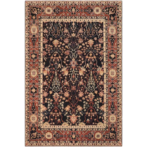 """Shabby Chic Ziegler Shana Hand Knotted Area Rug -8'2"""" x 9'9"""" - 8 ft. 2 in. X 9 ft. 9 in."""