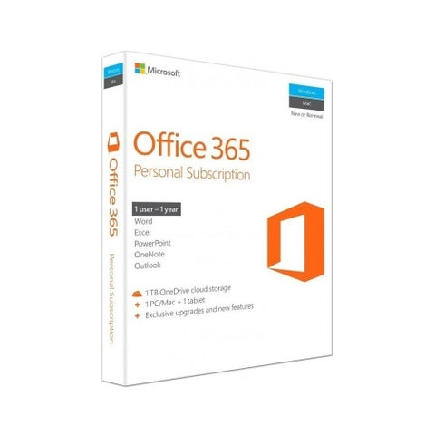 Microsoft Office 365 Home Premium 32/64-bit 1 Year Personal License English 1 Users, PC/Mac Key Card