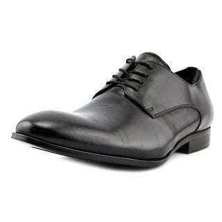 Kenneth Cole NY Official Matters Men  Round Toe Leather Black Oxford
