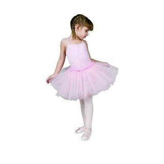 Sansha Pink Fawn Camisole Rhinestones Tutu Dance Dress Girls 4-14