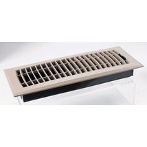 "TA Industries C160MBP 04X10 Plastic Floor Register, 10"" x 4"", Taupe"