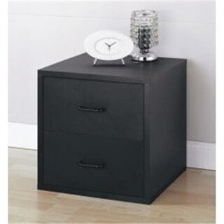Organize It All 85618 2 Drawer Cube-Black