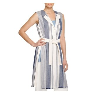 Lafayette 148 Womens Vest Striped Long