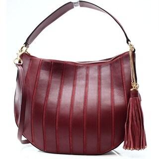Michael Kors NEW Red Brick Leather Brooklyn Shoulder Bag Hobo Purse