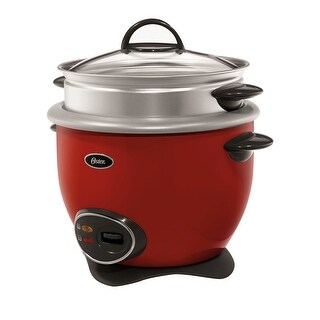 Oster 14-Cup (Cooked) Rice Cooker With Steam Tray - Red - CKSTRCMS14-R-NP