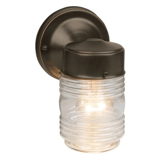 Design House 505198 Jelly Jar Outdoor Downlight, Oil Rubbed Bronze