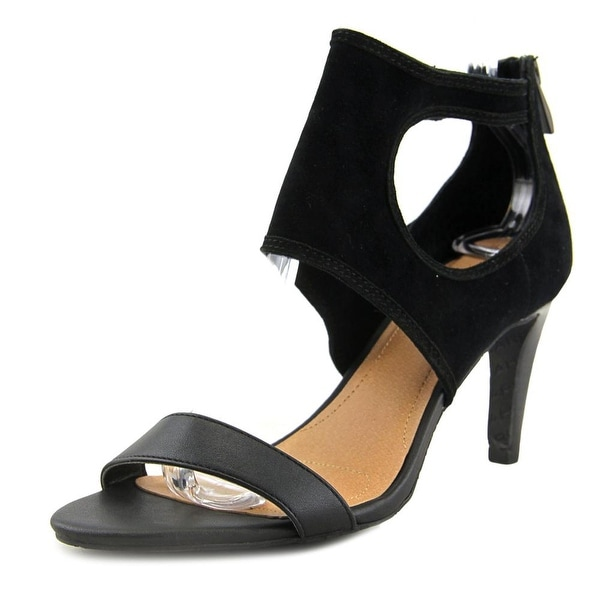 Tahari National Open-Toe Leather Heels