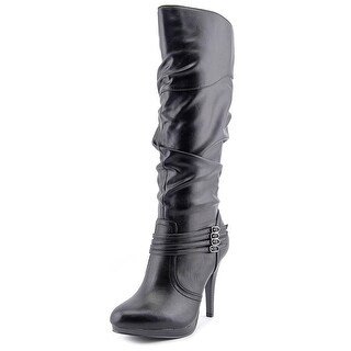 Style & Co Lindie Wide Calf Women Round Toe Leather Knee High Boot