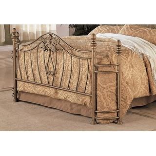 Link to Gracewood Hollow Faulkner Iron Goldtone Headboard/Footboard Similar Items in Bedroom Furniture