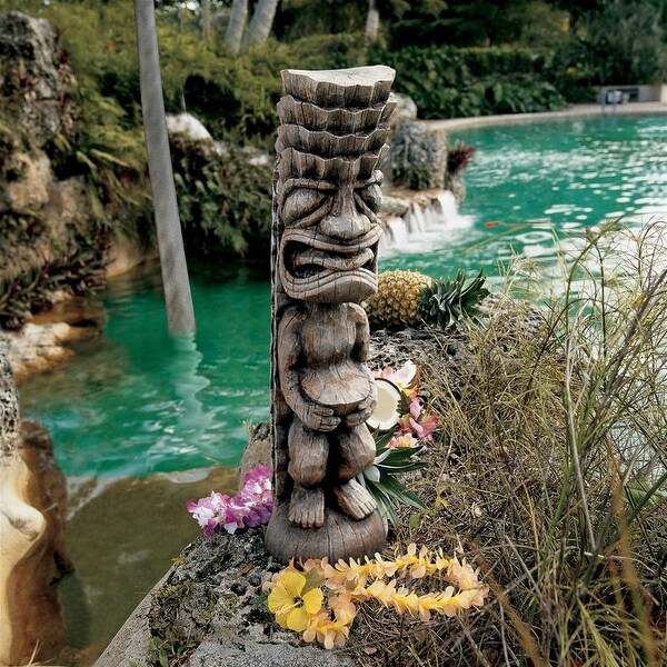 Design Toscano Tiki Gods Statue: The God of the Luau