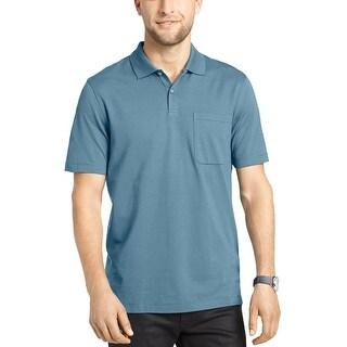 Van Heusen Feeder Stripe Polo Shirt Turquoise Stargazer XX-Large