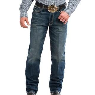 Cinch Western Jeans Mens Black Label Loose Taper Stonewash