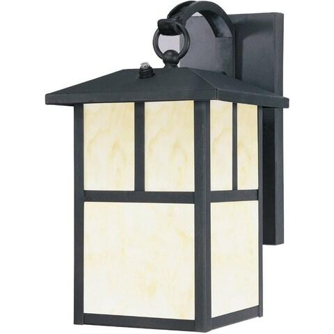 Westinghouse 6482948 Dusk-to-Dawn 1-Light Exterior Steel Wall Lantern