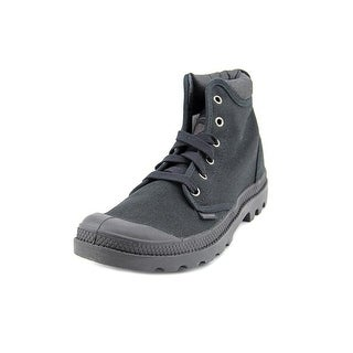 Palladium Pampa Hi Cuff Men Round Toe Canvas Black Boot