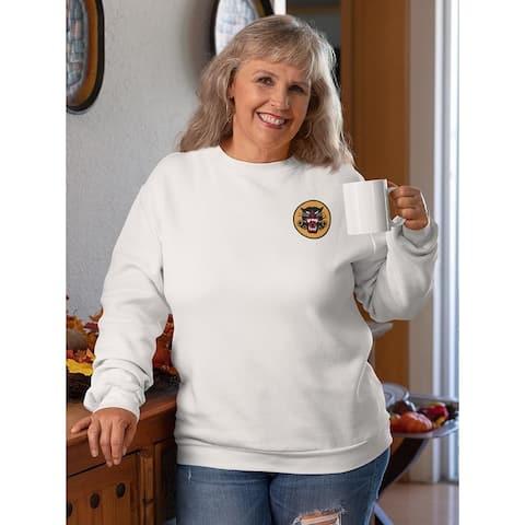 Black Phanter's Logo Sweatshirt Women's -Army Designs