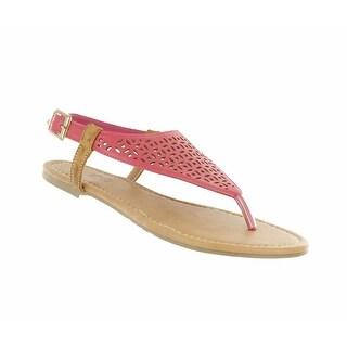 Red Circle Footwear Women's 'Jaimie' Thong Laser Cut Sandals