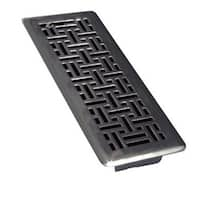 "TA Industries C167-MMB 04X12 Floor Register, 4"" x 12"", Matte Black"