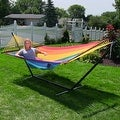 Sunnydaze Large 2-Person Rope Hammock with Spreader Bar & Hammock Stand - Thumbnail 12