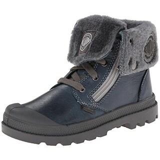Palladium Boys Toddler Leather Combat Boots - 5 medium (d)