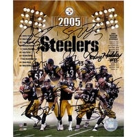 Signed Steelers Pittsburgh 2005 8x10 by the 2005 Pittsburgh Steelers an autographed picture of the