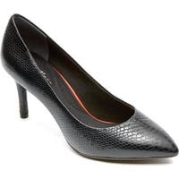 Rockport Women's Total Motion 75mm Pointed Toe Pump Nero Leather
