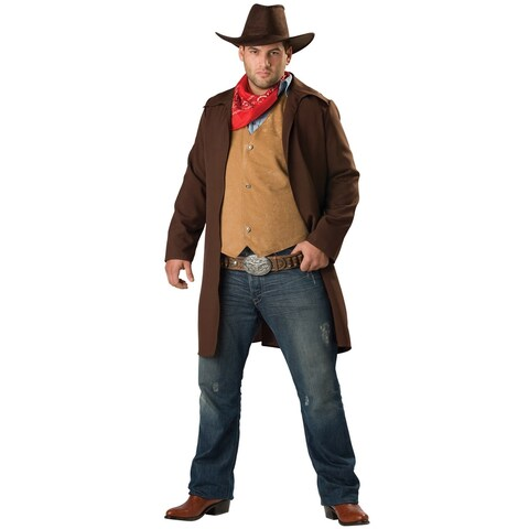 InCharacter Rawhide Renegade Plus Size Costume - Brown/Red