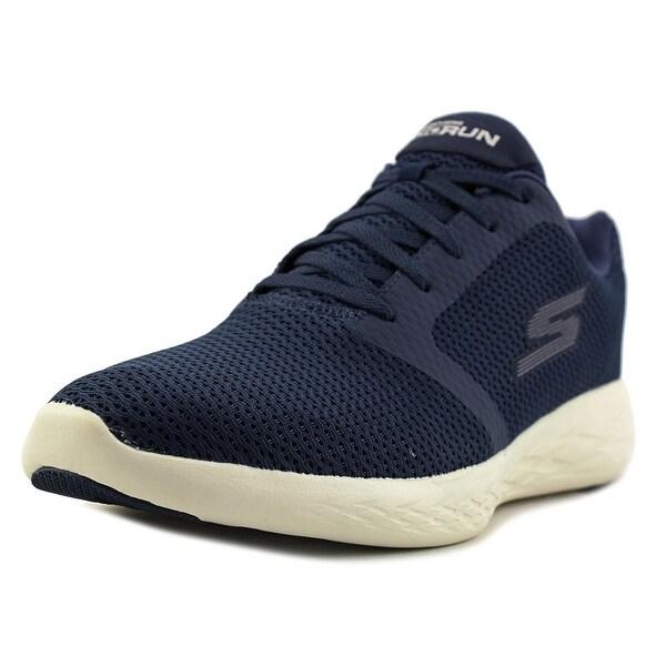 Skechers Go Run 600 - Refine Men Round Toe Canvas Blue Running Shoe