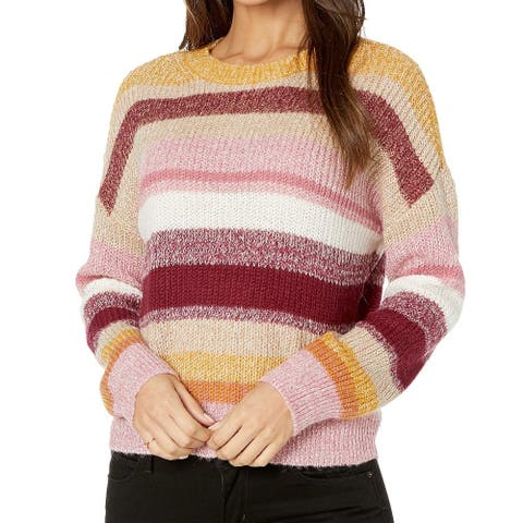 Sanctuary Women's Sweater Yellow Size Large L Striped Knit Pullover