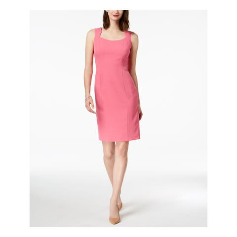 KASPER Pink Sleeveless Knee Length Sheath Dress Size 12