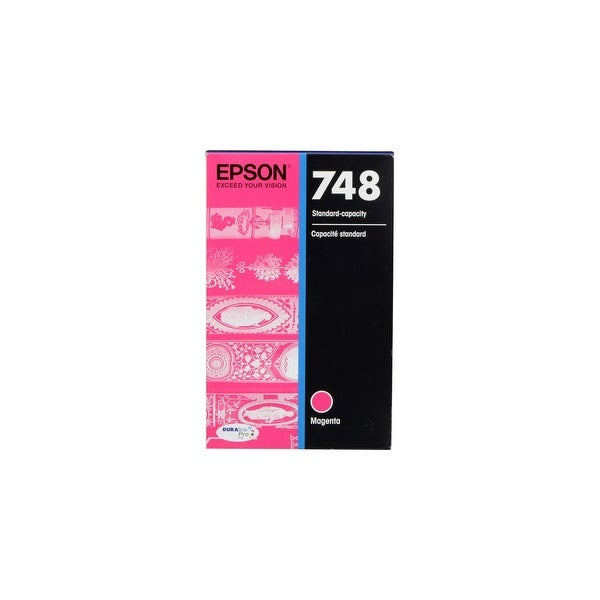 Epson T748320 Magenta Ink Cartridge w/ 1,500 Pages Yield for WorkForce Printer