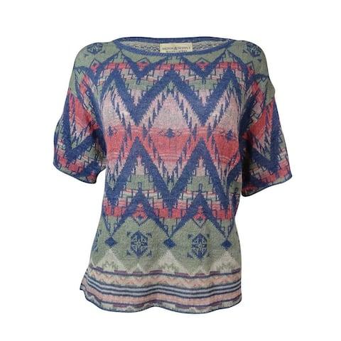 Denim & Supply Women's Chevron Intarsia Dolman Sweater