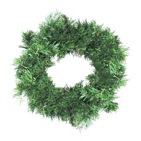 """12"""" Deluxe Windsor Pine Artificial Christmas Wreath - Unlit"""