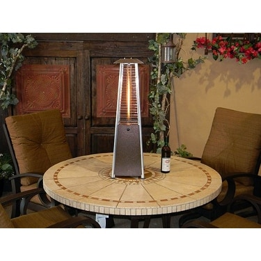 Beautiful AZ Patio Heaters HLDS032 GTTHG Portable Glass Tube Patio Heater, Bronze    Free Shipping Today   Overstock.com   22895356