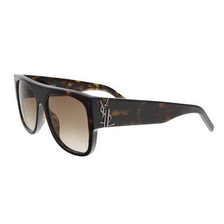 Saint Laurent SL M16 002 Havana Square Sunglasses